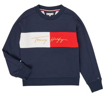 Textil Dívčí Mikiny Tommy Hilfiger KG0KG05497-C87-J Tmavě modrá