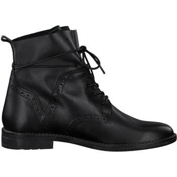 Boty Ženy Kotníkové boty Marco Tozzi Kozačky s nízkým podpatkem Bla Black