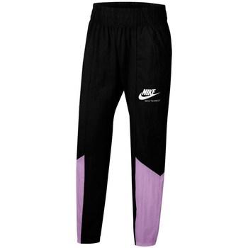 Textil Dívčí Teplákové kalhoty Nike Sportswear Heritage Černé, Fialové