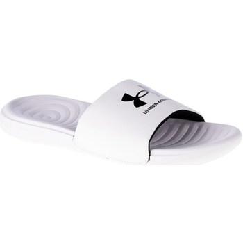 Boty Muži pantofle Under Armour Ansa Fixed Slides Bílé