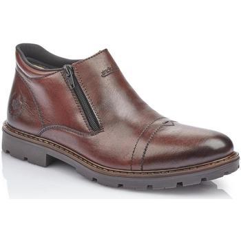 Boty Muži Kotníkové boty Rieker Nobelovy hnědé kotníkové boty Brown