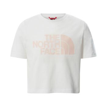 Textil Dívčí Trička s krátkým rukávem The North Face EASY CROPPED TEE Bílá