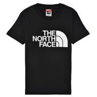Textil Chlapecké Trička s krátkým rukávem The North Face EASY TEE Černá