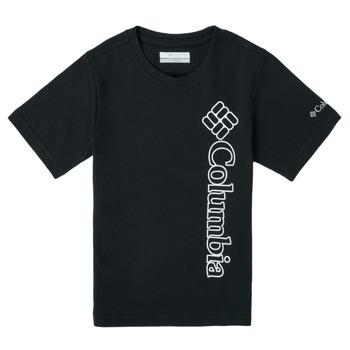 Textil Chlapecké Trička s krátkým rukávem Columbia HAPPY HILLS GRAPHIC Černá