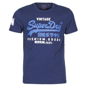 Textil Muži Trička s krátkým rukávem Superdry VL NS TEE Modrá