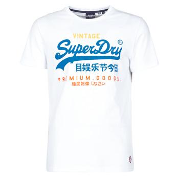 Textil Muži Trička s krátkým rukávem Superdry VL TRI TEE 220 Bílá