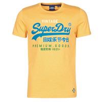 Textil Muži Trička s krátkým rukávem Superdry VL TRI TEE 220 Žlutá