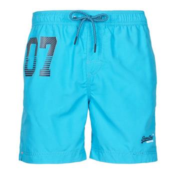 Textil Muži Plavky / Kraťasy Superdry WATERPOLO SWIM SHORT Modrá