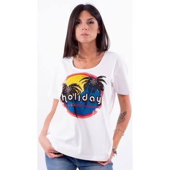 Textil Ženy Trička s krátkým rukávem Persona By Marina Rinaldi VALUTA Bílý