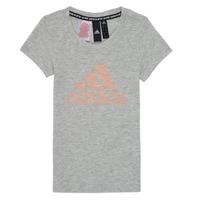 Textil Dívčí Trička s krátkým rukávem adidas Performance JG A MHE TEE Bílá
