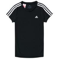 Textil Dívčí Trička s krátkým rukávem adidas Performance G 3S T Černá