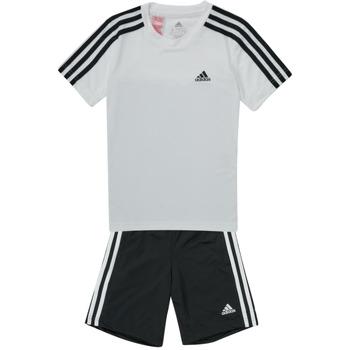 Textil Chlapecké Teplákové soupravy adidas Performance B 3S T SET Bílá / Černá