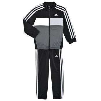 Textil Chlapecké Teplákové soupravy adidas Performance B TIBERIO TS Černá / Šedá