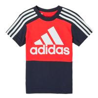 Textil Chlapecké Trička s krátkým rukávem adidas Performance B CB T Červená / Tmavě modrá