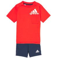 Textil Chlapecké Set adidas Performance BOS SUM  SET Červená / Černá