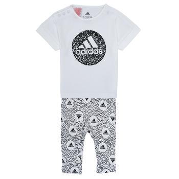 Textil Dívčí Set adidas Performance TIGHT SET Bílá