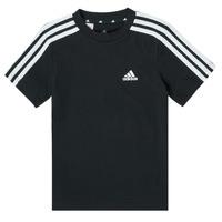 Textil Chlapecké Trička s krátkým rukávem adidas Performance B 3S T Černá