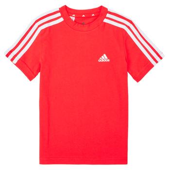 Textil Chlapecké Trička s krátkým rukávem adidas Performance B 3S T Červená
