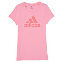 Textil Dívčí Trička s krátkým rukávem adidas Performance G BL T Růžová