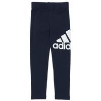 Textil Dívčí Legíny adidas Performance G BL LEG Tmavě modrá