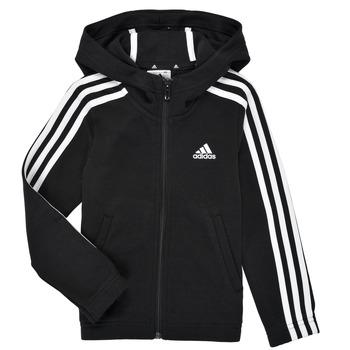 Textil Dívčí Mikiny adidas Performance G 3S FZ HD Černá