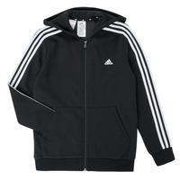Textil Chlapecké Mikiny adidas Performance B 3S FZ HD Černá
