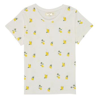 Textil Dívčí Trička s krátkým rukávem Deeluxe NADY Bílá