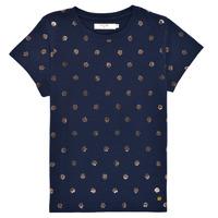 Textil Dívčí Trička s krátkým rukávem Deeluxe MAYA Tmavě modrá