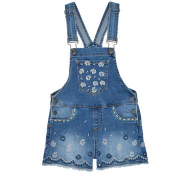 Textil Dívčí Overaly / Kalhoty s laclem Desigual 21SGDD04-5053 Modrá