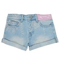 Textil Dívčí Kraťasy / Bermudy Desigual 21SGDD05-5010 Modrá
