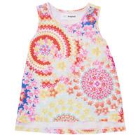 Textil Dívčí Tílka / Trička bez rukávů  Desigual 21SGCW02-3146