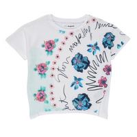 Textil Dívčí Trička s krátkým rukávem Desigual 21SGTK02-1000 Bílá
