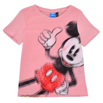 Textil Dívčí Trička s krátkým rukávem Desigual 21SGTK43-3013 Růžová