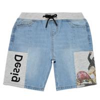 Textil Chlapecké Kraťasy / Bermudy Desigual 21SBDD02-5053 Modrá