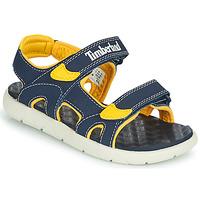 Boty Děti Sandály Timberland PERKINS ROW 2-STRAP Modrá / Žlutá