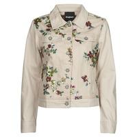Textil Ženy Riflové bundy Desigual BRILLIGRIN Růžová