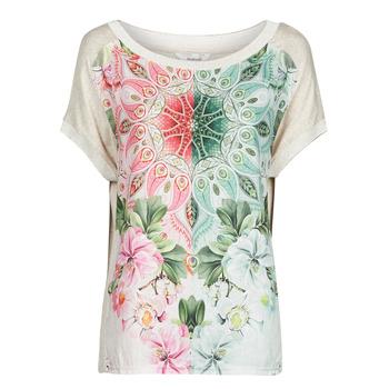 Textil Ženy Trička s krátkým rukávem Desigual COPENHAGUE Bílá