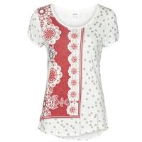 Textil Ženy Trička s krátkým rukávem Desigual ESTAMBUL Bílá