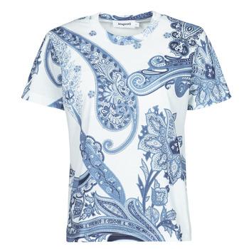 Textil Ženy Trička s krátkým rukávem Desigual POPASLEY Modrá
