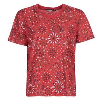Textil Ženy Trička s krátkým rukávem Desigual LYON Červená