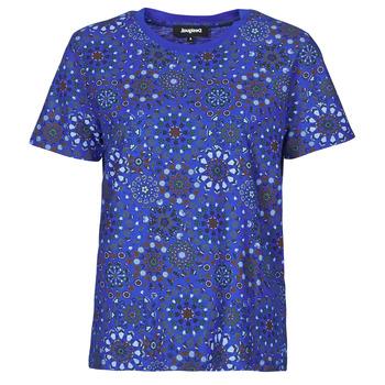 Textil Ženy Trička s krátkým rukávem Desigual LYON Tmavě modrá