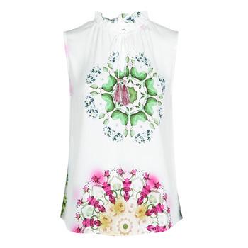 Textil Ženy Tílka / Trička bez rukávů  Desigual ROSEN Bílá