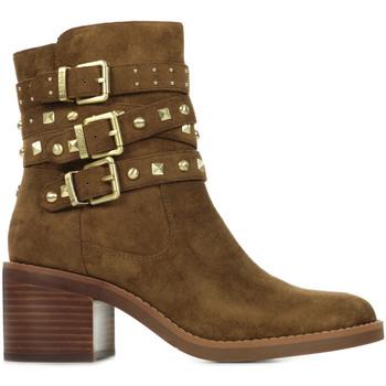 Guess Kotníkové boty Colleen - Hnědá