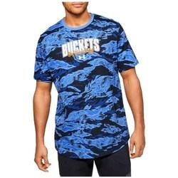 Textil Muži Trička s krátkým rukávem Under Armour Baseline Verbiage Tee Modré, Tmavomodré
