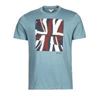Textil Muži Trička s krátkým rukávem Ben Sherman HALF TONE FLEG TEE Modrá