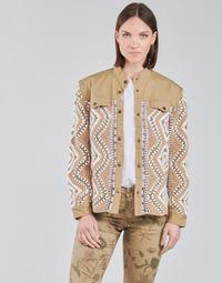Textil Ženy Bundy Cream SOLDE JACKET Béžová