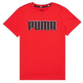 Textil Chlapecké Trička s krátkým rukávem Puma ALPHA GRAF TEE Červená