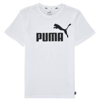 Textil Chlapecké Trička s krátkým rukávem Puma ESSENTIAL LOGO TEE Bílá