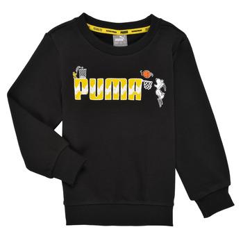 Textil Chlapecké Mikiny Puma SNOOPY PEANUTS CREW Černá
