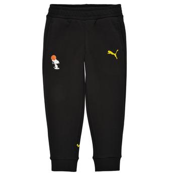 Textil Chlapecké Teplákové kalhoty Puma SNOOPY PEANUTS SWEAT PANT Černá